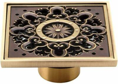 $33.99 • Buy Copper/Brass Bathroom Floor Drain Square Shower Sink Strainer Removable Cover