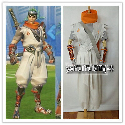$ CDN72.81 • Buy Sparrow Young Genji Full Set White Suit Cosplay Costume