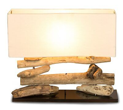 Wood Lamp Table Lamp Wooden 50x17x43 Driftwood Unique Light Lamp • 62.39£