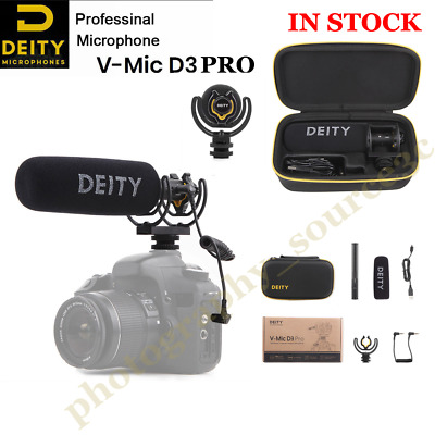 UK Deity V-Mic D3 Pro Broadcast Quality Super-Cardioid Shotgun Microphone NO FEE • 158£