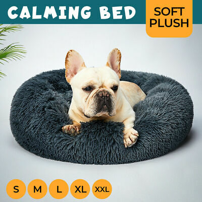 AU35.99 • Buy Pet Dog Cat Calming Bed Warm Soft Plush Round Nest Comfy Sleeping Kennel Cave AU