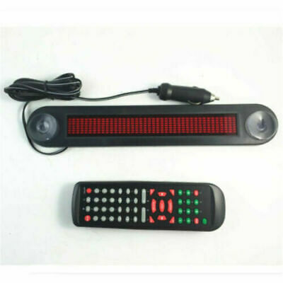 Car 12V LED Message Sign Programmable Moving Scrolling Board Remote Control Tool • 20.82£