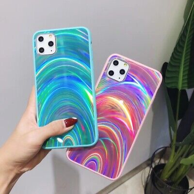 AU6.54 • Buy Rainbow Shining Phone Case Colorful For Samsung Galaxy Note10+ S10 S9 S8 J4 J6