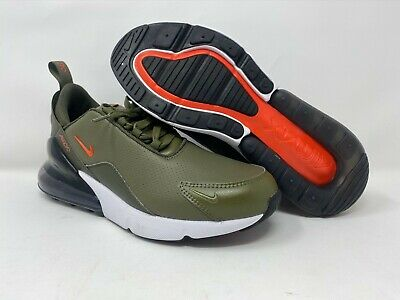 $82.99 • Buy Nike Air Max 270 Premium Leather Olive Green BQ6171-200 Running Shoes Men's 8-9