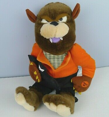 $ CDN30 • Buy Vintage Chrisha Halloween Werewolf Musical Plush Decoration 1988 Works See Video