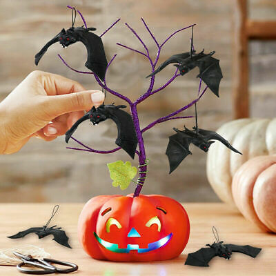 $ CDN7.60 • Buy Halloween Hanging Decorations Black Rubber Bat Party Backdrop Festival Craft Fun