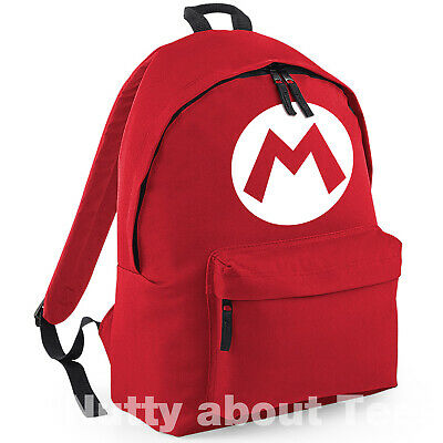MARIO And LUIGI Backpack Super Brothers Retro Gaming Rucksack School College  • 14.99£