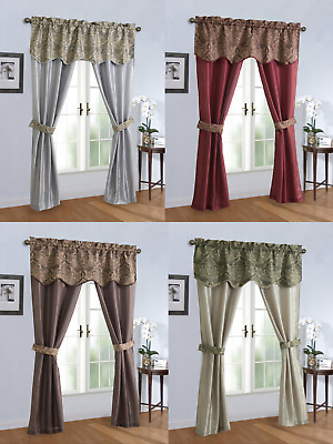 $18.99 • Buy Complete 5 Pc. Sheer Window In A Bag Curtain & Valance Set - Assorted Colors