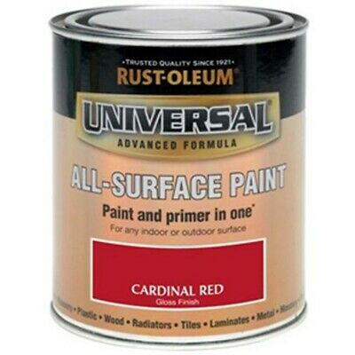 Rust-Oleum Universal All-Surface Brush Paint & Self Primer Interior Exterior • 18.95£