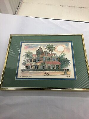 $69.99 • Buy The Southernmost House Key West Florida Print By Robert Kennedy Framed