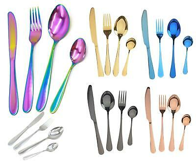 Stainless Steel Colourful Iridescent 4pcs Cutlery Set • 5.99£
