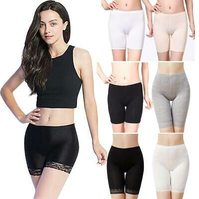 Womens Seamless Breathable Lace Trim Shapewear Safety Pants • 5.19£