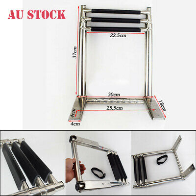 AU59.99 • Buy 3 Step Telescoping Folding Ladder Platform Boarding Swim For Boat Marine Yacht