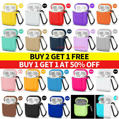$ CDN3.30 • Buy For AirPods Silicone Case + Keychain Protective Cover Skin For AirPod Case 2 & 1