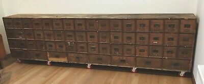 AU8000 • Buy Antique 1800s Cabinet Apothecary Spice Shop Vintage Industrial Drawers Victorian