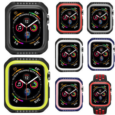 $ CDN8.02 • Buy For IWatch Series 4/5 40/44mm Rubber Case Cover Skin Shell Bumper