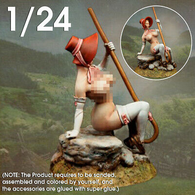 1/24 Nude Mary Sexy Girl Figure Resin Static Model Kits Unpainted Unassembled • 10.27£