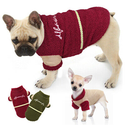 £8.89 • Buy Small Dog Coats For Winter Chihuahua Clothes Pet Fleece Jacket Jack Russell Pug