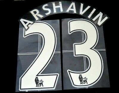 $19.59 • Buy Arsenal Arshavin 23 Name/Number Set Football Shirt Lextra 07-13 Sporting ID Home