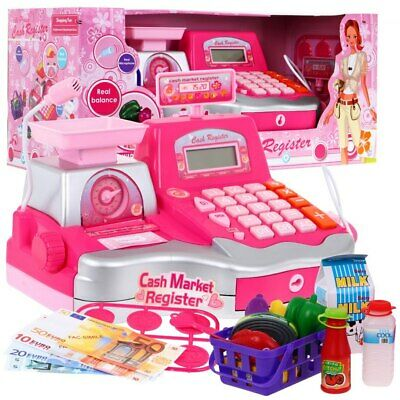 Super Toy Cash Register With Accessories Microphone Calculator Barcode Scanner • 20.99£