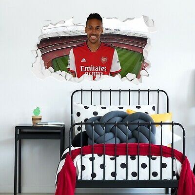 £19.99 • Buy Arsenal FC Official 20/21 Pierre-Emerick Aubameyang Smashed Wall Sticker