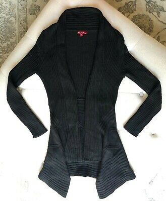 $4.99 • Buy Women's Merona Long Sleeve, Thigh Length Cardigan Sweater In Black  Sz Xs  $4.99