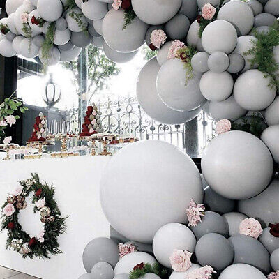 AU3.88 • Buy 5/10/18/36 Inch Large Big Grey Balloons Pastel Arch Garland Baby Shower Wall
