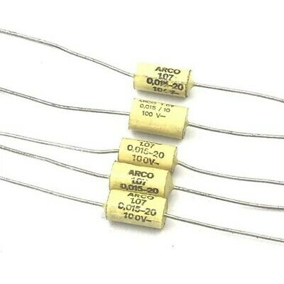 £1.54 • Buy 0.015uf 15nf 20% 100v Axial Capacitor Arcotronics Qty:5