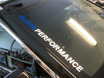 $14.99 • Buy Blue/White  MOPAR PERFORMANCE  Windshield Decal FITS: Dodge Charger Challenger