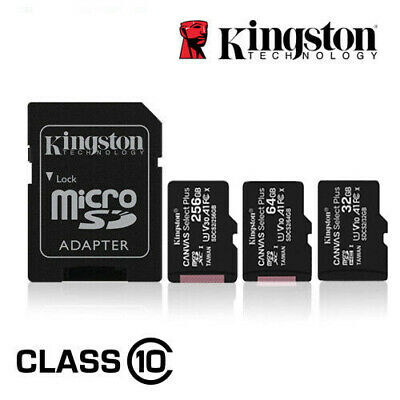 $21.99 • Buy Kingston Micro SD Card 16GB 32GB 64GB 128GB TF Class 10 For Smartphones
