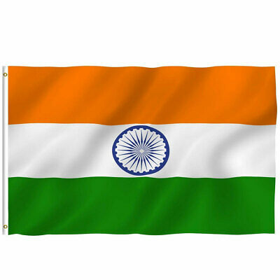 $4.85 • Buy India Indian Flag 3x5 Polyester Indoor Outdoor Flag National Country Banner