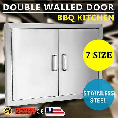 $66.50 • Buy New 30  Outdoor Kitchen / Bbq Island Stainless Steel Double Access Door Usa Made