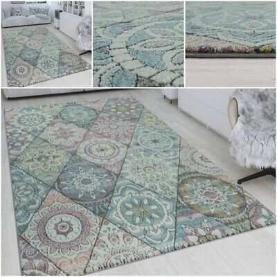 Vintage Look Floral Mandala Design Living Room Yoga Studio Carpet Quality Rug • 79.99£