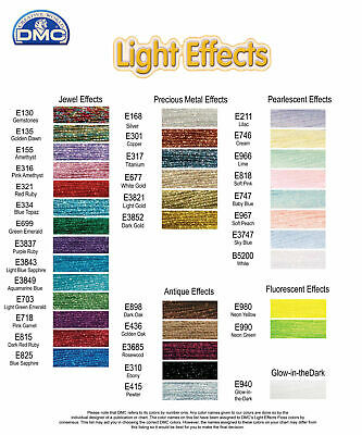 AU2.30 • Buy Brand New DMC Light Effects Thread YOU CHOOSE YOUR COLOUR