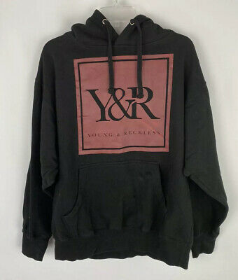 $17.98 • Buy Young & Reckless Black Hoodie Sweater Red Box Logo L