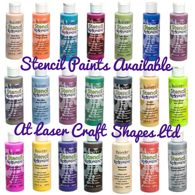 DecoArt Deco Art Stencil Paints Craft Paint Acrylic 4oz 21 Colours Same Day Dis • 5.99£