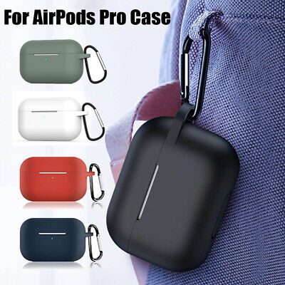 $ CDN4.03 • Buy Silicone Protective Case Cover Skin +KeyChain For Apple AirPod Pro Charging Case