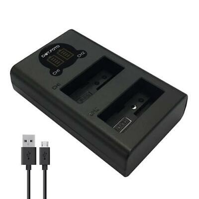 LCD USB Dual Battery Charger For Canon LP-E8 | EOS 550D 600D 650D • 10.08£