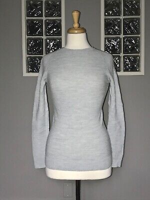 $ CDN66 • Buy Lululemon Simply Wool Sweater 4 Heathered Starlight Ribbed Long Sleeve Pullover