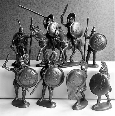 $17.90 • Buy Ancient Greeks Warriors Plastic Soldiers 1/32 60-90mm 8pcs.