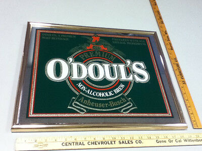 $ CDN64.54 • Buy O'Doul's Budweiser N/A Beer Sign Bar Vintage Mirror Anheuser-Busch Brewery WT9