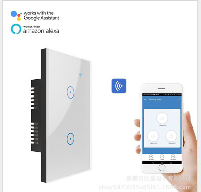 AU25 • Buy Switch App Timing Socket For Alexa Google Home WIFI Smart Wall Light Touch Panel