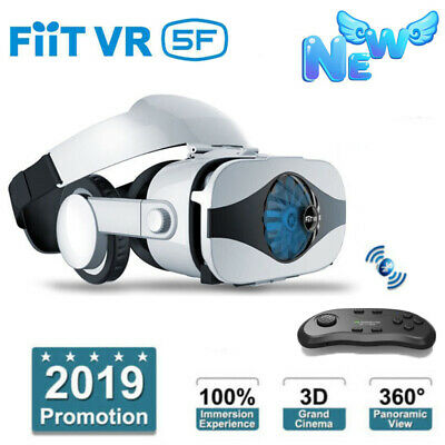 AU64.85 • Buy VR Headset Virtual Reality 3D Glasses Fan Cooling VR BOX + Remote Contorller New