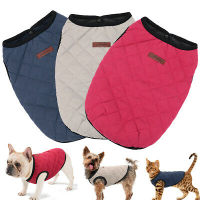 £4.99 • Buy Small Dog Coats For Winter Boy&Girl Chihuahua Clothes Pet Cat Vest Schnzuer Blue