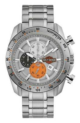 Harley-Davidson Men's Vintage B&S Chronograph Stainless Steel Watch 76B186 • 210.95£