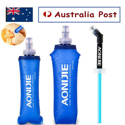 AU18.58 • Buy AONIJIE Foldable Folding Soft Flask Squeeze Outdoor Sports Running Water Bottle