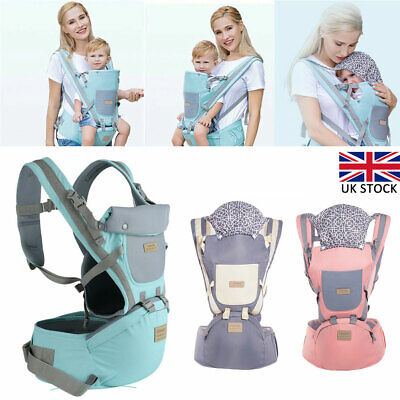 Ergonomic Infant Baby Carrier With Hip Seat Stool Adjustable Wrap Sling Backpack • 17.25£