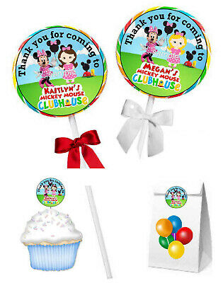 $4.99 • Buy Minnie Mouse Mickey Mouse Clubhouse Birthday Party Favors Lollipop Labels