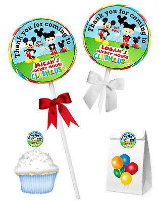 $4.99 • Buy Mouse Mickey Mouse Clubhouse Birthday Party Favors Lollipop Labels