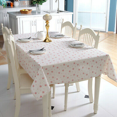 AU25.60 • Buy Rectangle Tablecloth Cotton Linen Dining Table Cloth Cover Home Party DIY Decor